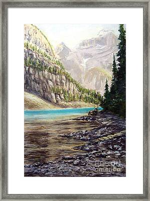 Hidden Gem In The Rockies Framed Print