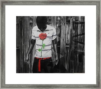 Hidden Heart Framed Print by Kodjo Somana