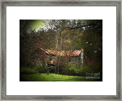 Hidden House In Spring Framed Print by Joyce Kimble Smith