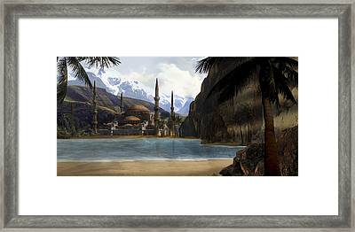 Hidden In The Mountains Framed Print
