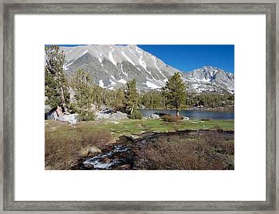 Hidden Lake Framed Print by Kirk Williams