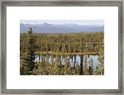 Hidden Lakes Framed Print by George Hawkins
