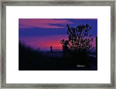 Hidden Sunset Framed Print