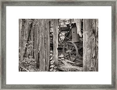 Hidden Treasures Sepia Framed Print by JC Findley