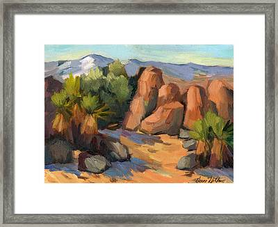 Hidden Valley At Joshua Tree Framed Print by Diane McClary