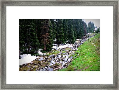 Hidden Valley Creek  Framed Print by Aaron Burrows