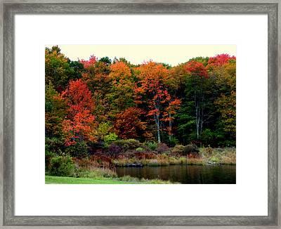 Hidden Valley Lake Framed Print by Karen Wiles