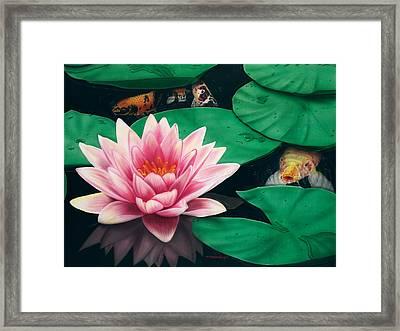 Framed Print featuring the painting Hide And Seek by Dan Menta
