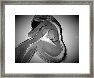 Hide In Monocrome Framed Print by Holly Georgina McQuoid