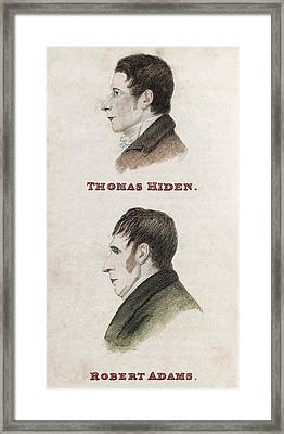 Hiden And Adams, British Conspirators Framed Print by Middle Temple Library