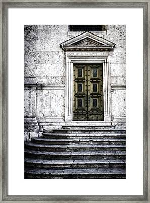 Hiding A Treasure Framed Print by Joan Carroll