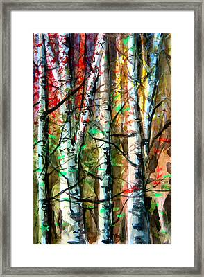 Hiding In The Forest Framed Print by Mindy Newman