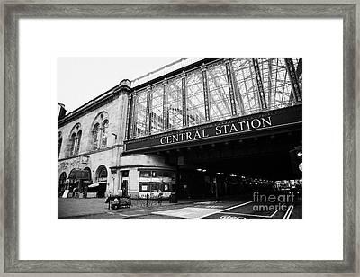 Hielanman's Umbrella Glass Walled Railway Bridge For Glasgow Central Station Scotland Uk Framed Print by Joe Fox