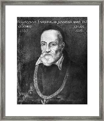 Hieronymus Fabricius, Italian Anatomist Framed Print
