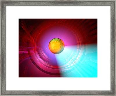 Higgs Boson Particle, Artwork Framed Print by Laguna Design