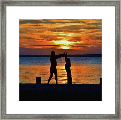 High 5 Framed Print
