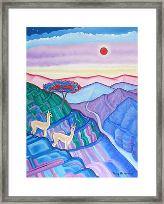 High Altitude Framed Print by Tracy Dennison