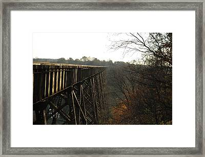 High And Mighty Framed Print by Cheryl Helms