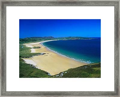 High Angle View Of A Coastline Framed Print