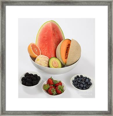 High Carbohydrate Fruit Framed Print by Photo Researchers, Inc.