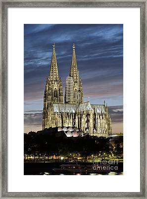High Cathedral Of Sts. Peter And Mary In Cologne Framed Print by Heiko Koehrer-Wagner