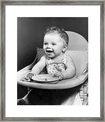 High Chair Hijinks Framed Print by Archive Photos