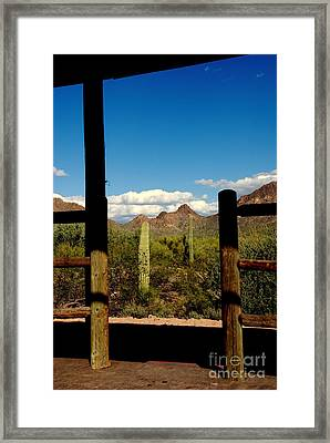 High Chaparral Old Tuscon Arizona  Framed Print by Susanne Van Hulst