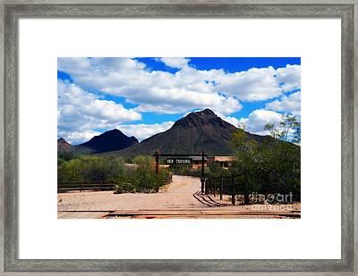 High Chaparral Ranch Framed Print by Susanne Van Hulst