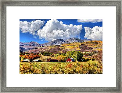 Framed Print featuring the digital art High Country Living by Brian Davis