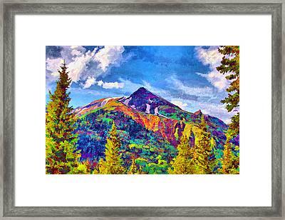 Framed Print featuring the digital art High Country Pyramid by Brian Davis