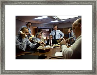 High Drama On Air Force One As National Framed Print