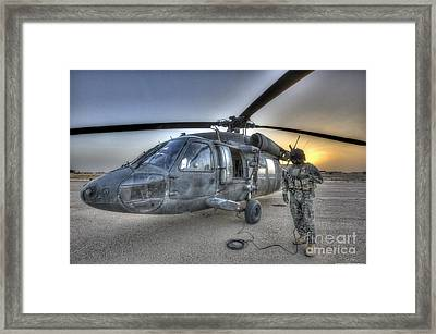 High Dynamic Range Image Of A Door Framed Print by Terry Moore