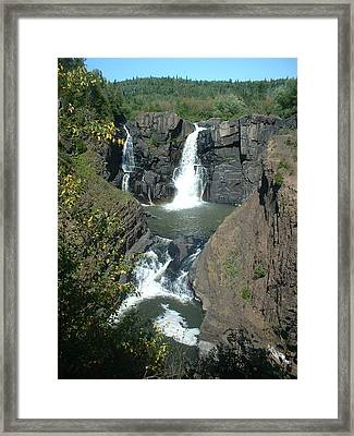 Framed Print featuring the photograph High Falls Grand Portage by Bonfire Photography