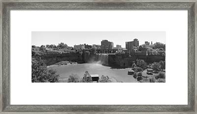 High Falls In Rochester New York Framed Print by Matthew Green