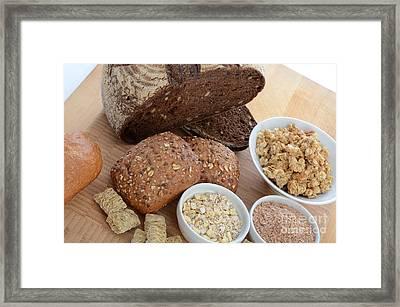 High Fiber Food Framed Print by Photo Researchers, Inc.