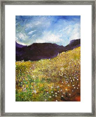 High Field Of Flowers Framed Print