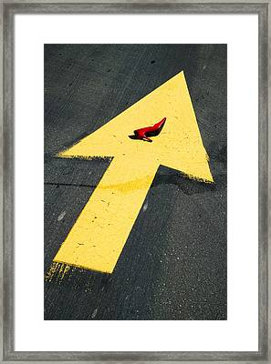 High Heel And Arrow Framed Print by Garry Gay