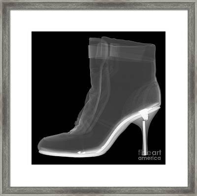High Heel Boot X-ray Framed Print by Ted Kinsman