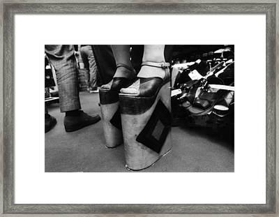 High-high Heels Framed Print