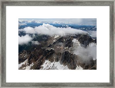 High In The Alaska Range Framed Print by George Hawkins