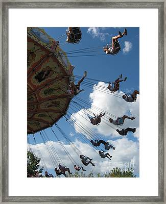 Framed Print featuring the photograph High In The Sky by Nancy Dole McGuigan