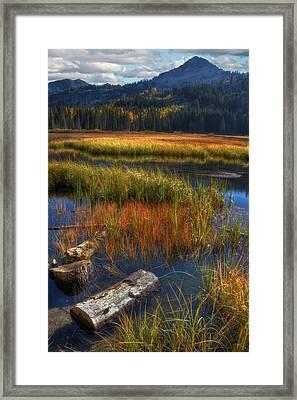High Mountain Lake Framed Print by Utah Images