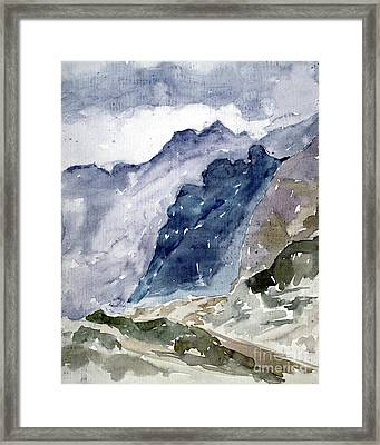High Mountains Framed Print