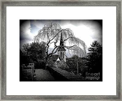 High On The Hill Peace And Eternal Rest Reign Framed Print by Mariana Costa Weldon