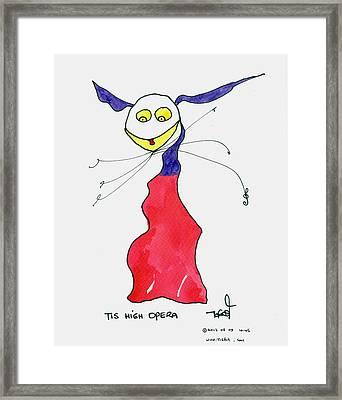 High Opera Framed Print by Tis Art