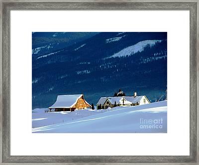 High Plains Drifters    Gunnison Framed Print by Don F  Bradford