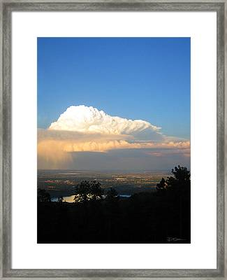 High Plains Thunder Framed Print by Ric Soulen