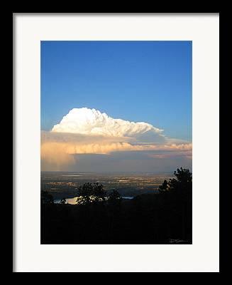 High Plains Thunderhead Framed Prints