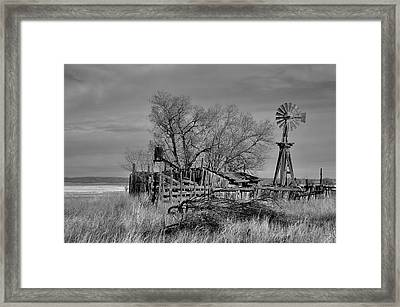 High Plains Wind Framed Print