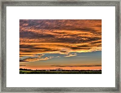 High Pressure Dominating Framed Print